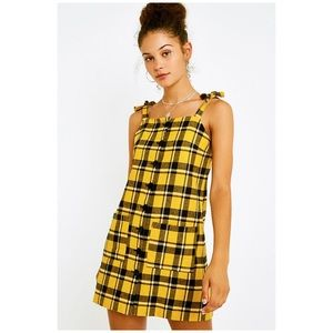 Lazy Oaf • pinky dress in yellow check
